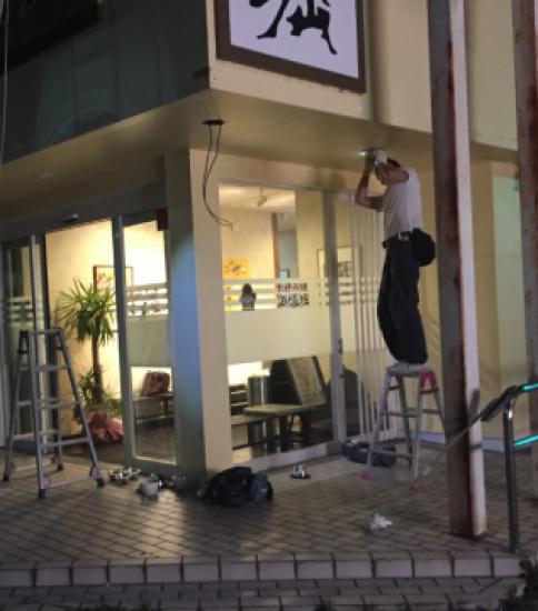 LED工事 店舗等 関西エリア、北陸エリアにて対応。